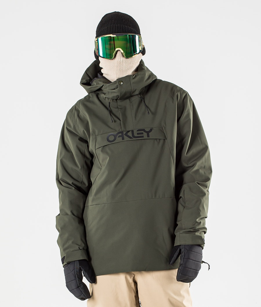 Oakley Insulated Anorak Ski Jacket New Dark Brush