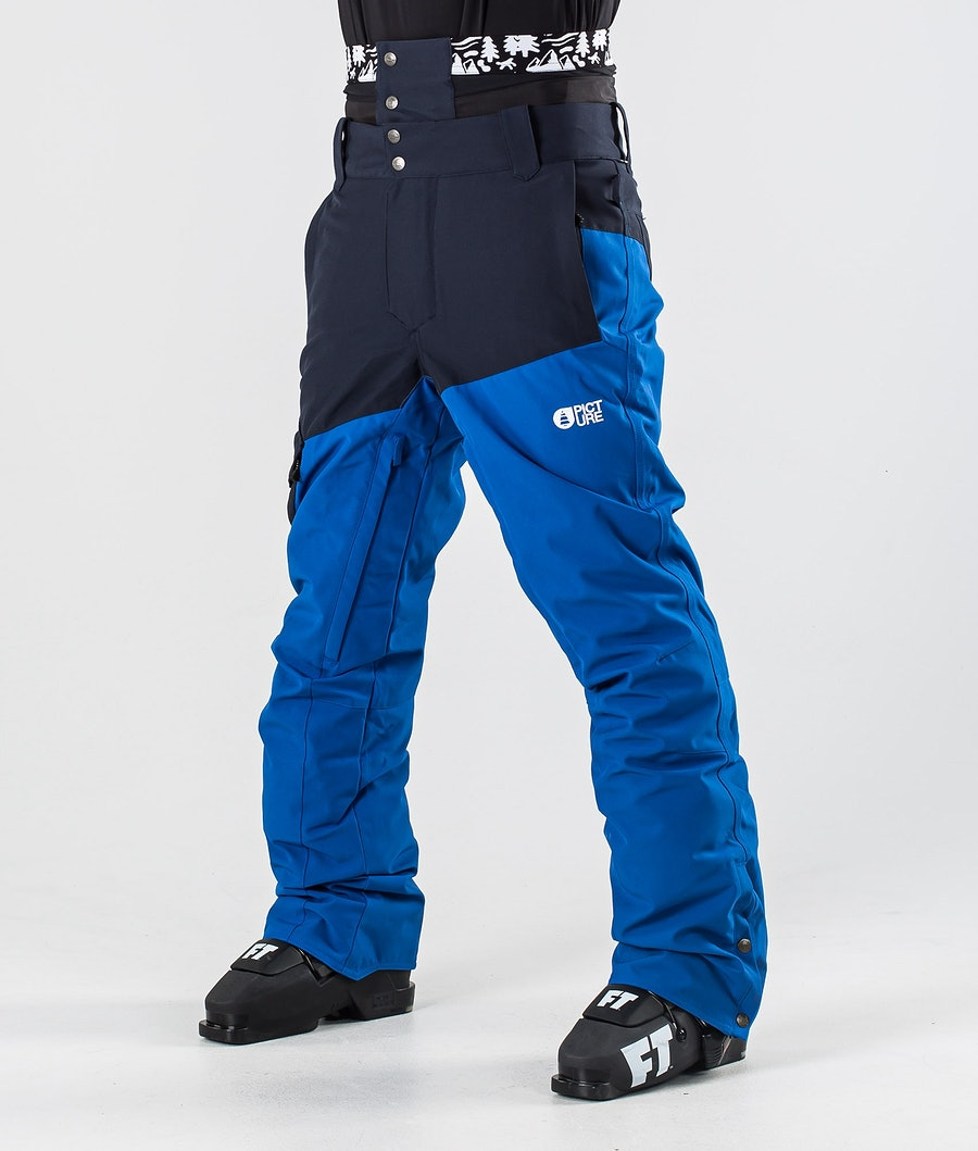 Picture Panel Ski Pants Dark Blue Picture Blue