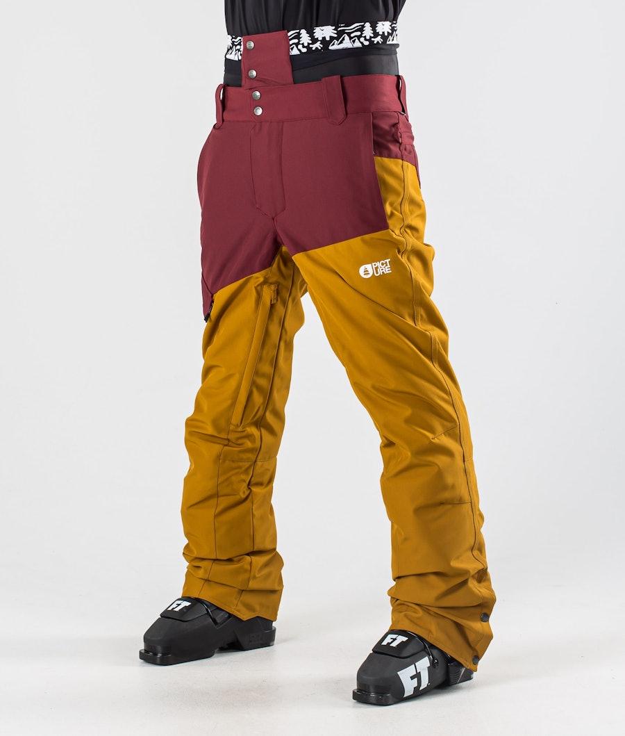 Picture Panel Ski Pants Ketchup Camel