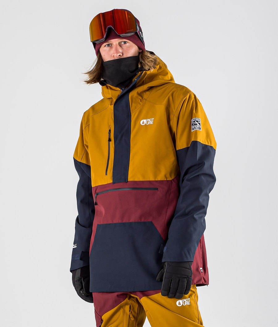 Picture Trifid Ski Jacket Camel Dark Blue
