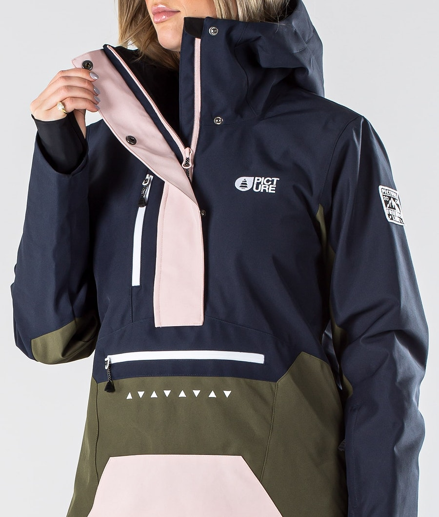 Picture Season Women's Ski Jacket Army Green Dark Blue