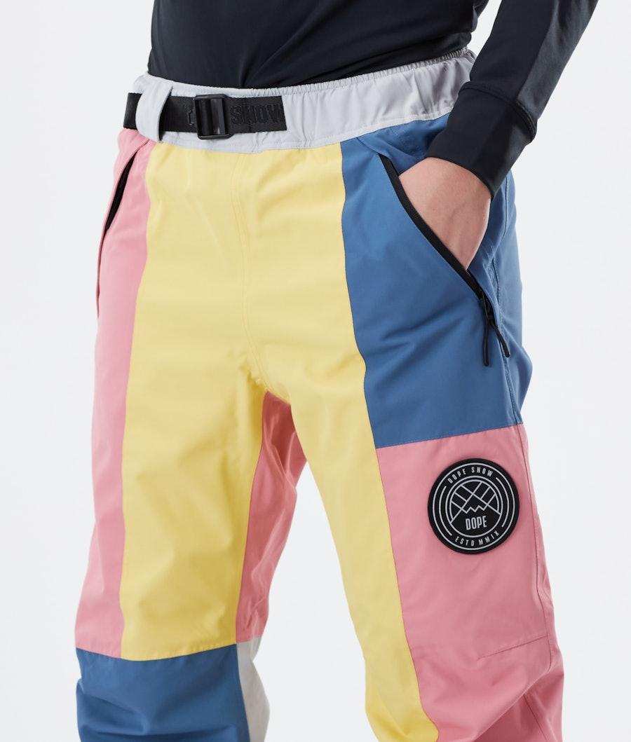 Dope Blizzard LE W Pantaloni da Sci Donna Pink Patchwork