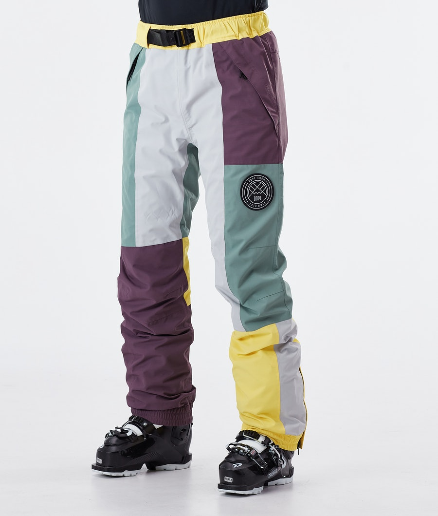 Dope Blizzard LE W Pantalon de Ski Faded Green Patchwork