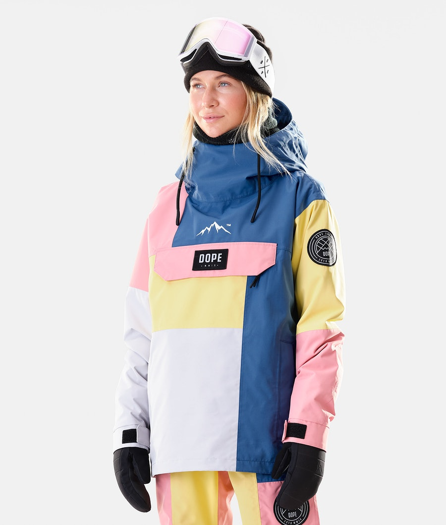 Dope Blizzard LE W Ski jas Pink Patchwork