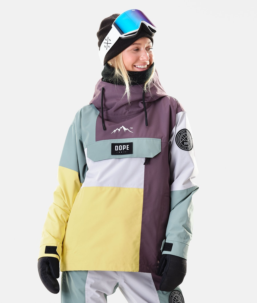 Dope Blizzard LE W Veste de Ski Faded Green Patchwork