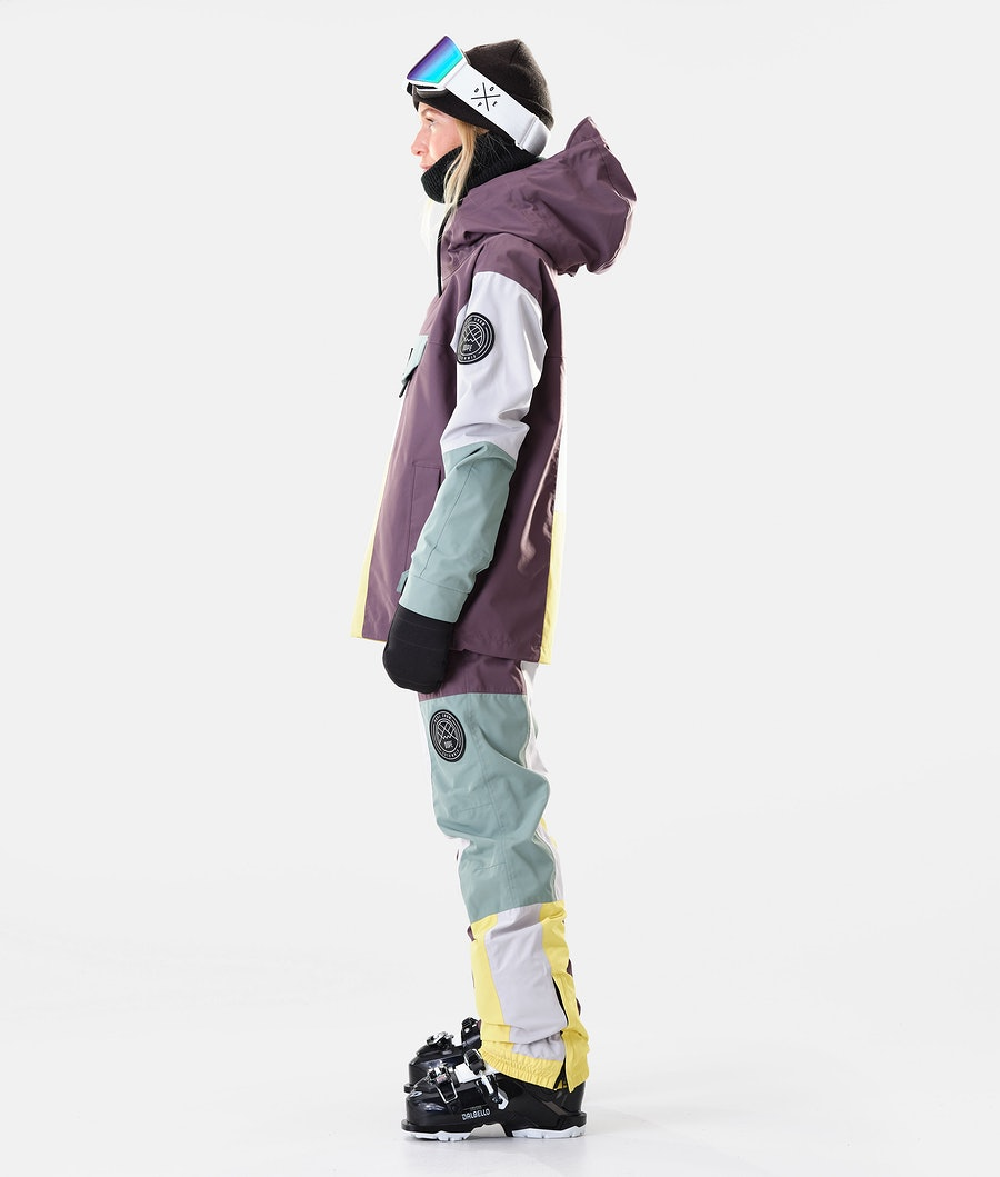 Dope Blizzard LE W Ski jas Dames Faded Green Patchwork