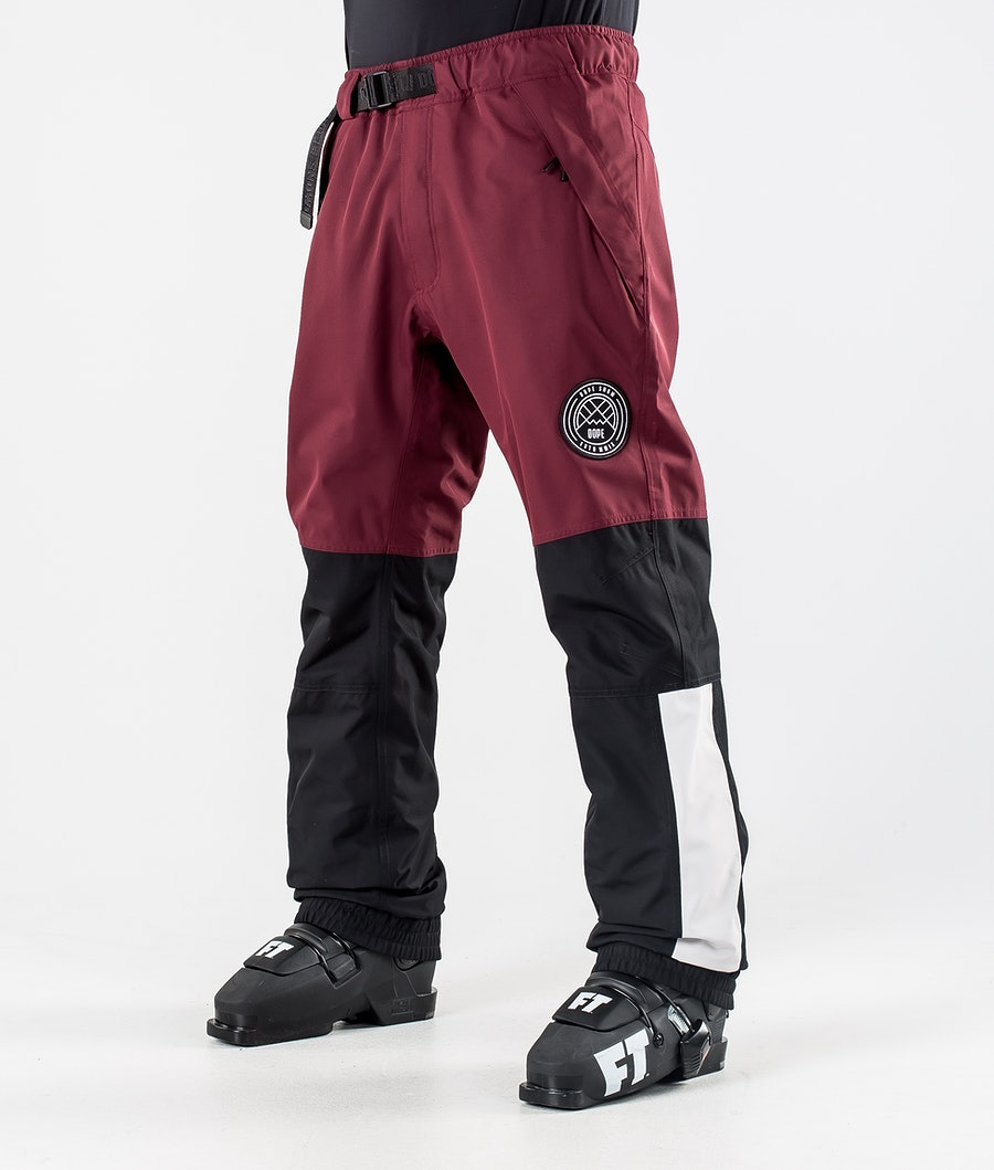 Dope Blizzard LE Ski Pants Burgundy Multicolour