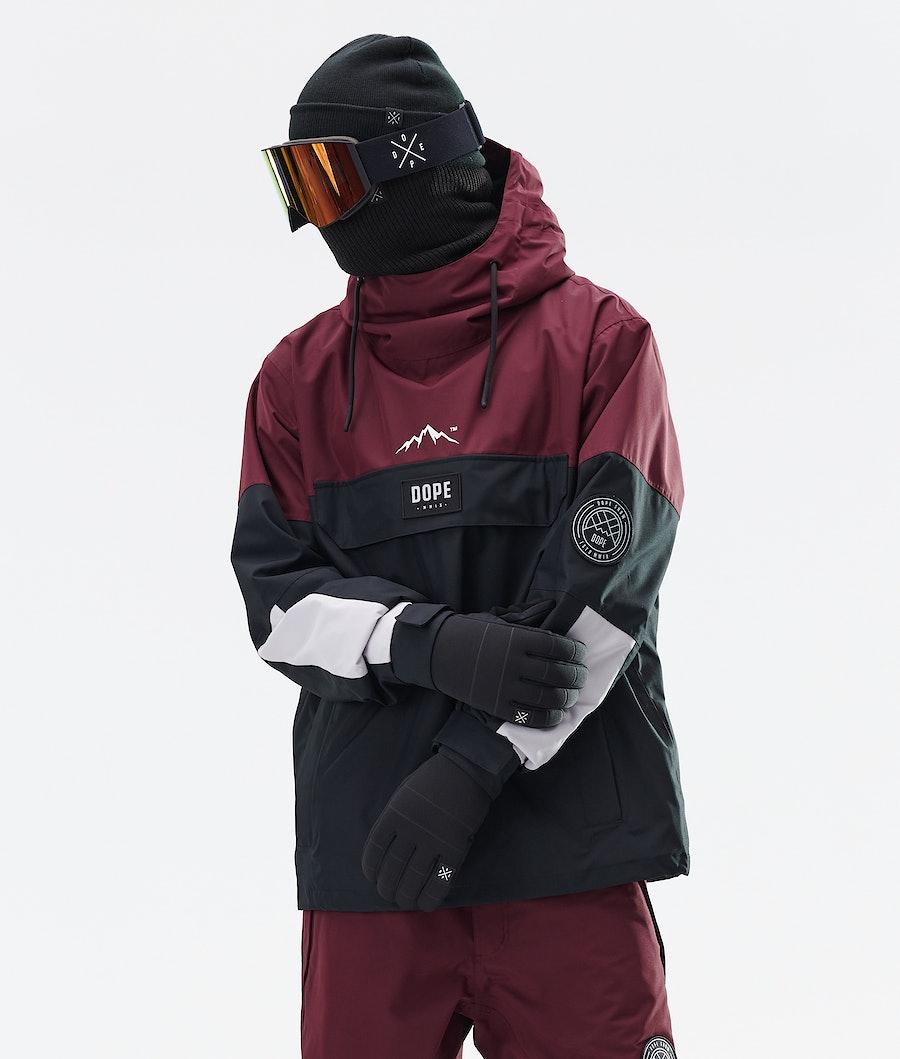 Dope Blizzard LE Snowboard Jacket Burgundy Multicolour