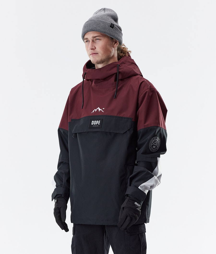 Dope Blizzard LE Winter Jacket Burgundy Multicolour