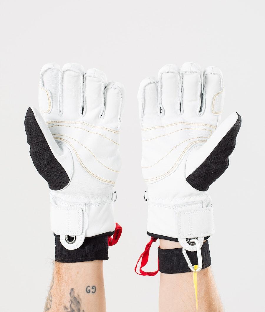 Hestra Army Leather Gore-Tex Short 5 Finger Ski Gloves Black/Off White