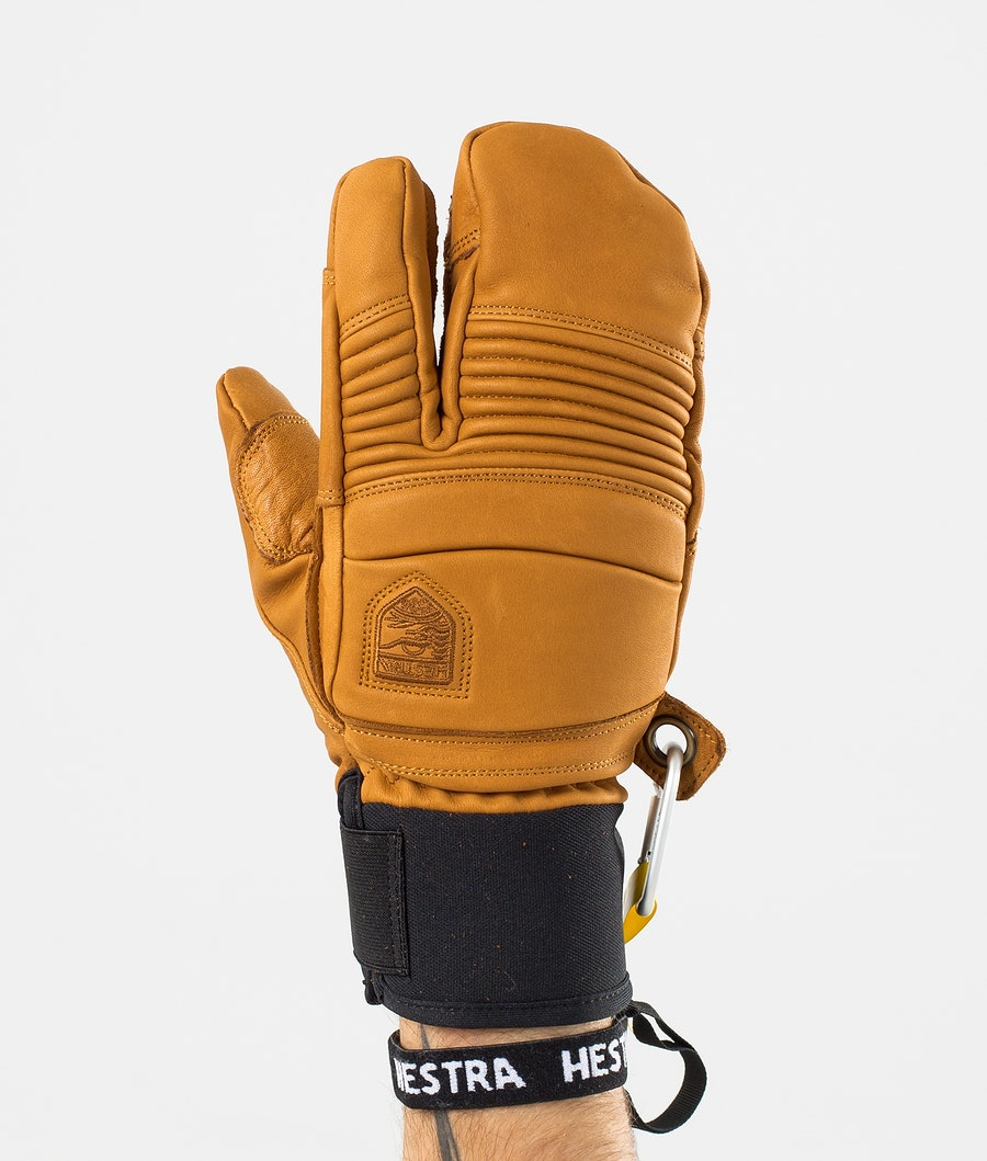 Hestra Leather Fall Line 3 Finger Vantar Snow Cork