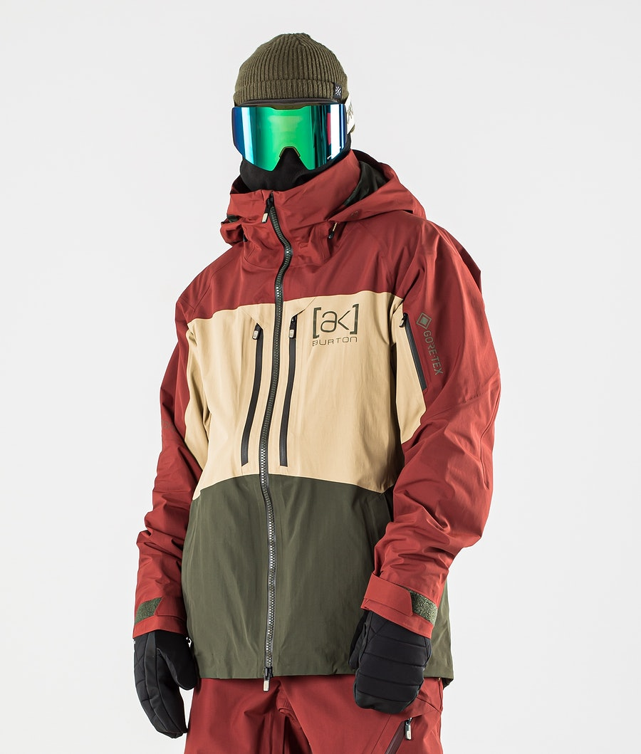 Burton AK GoreTex Swash Lumilautailutakki Sparrow/Kelp/Forrest Night