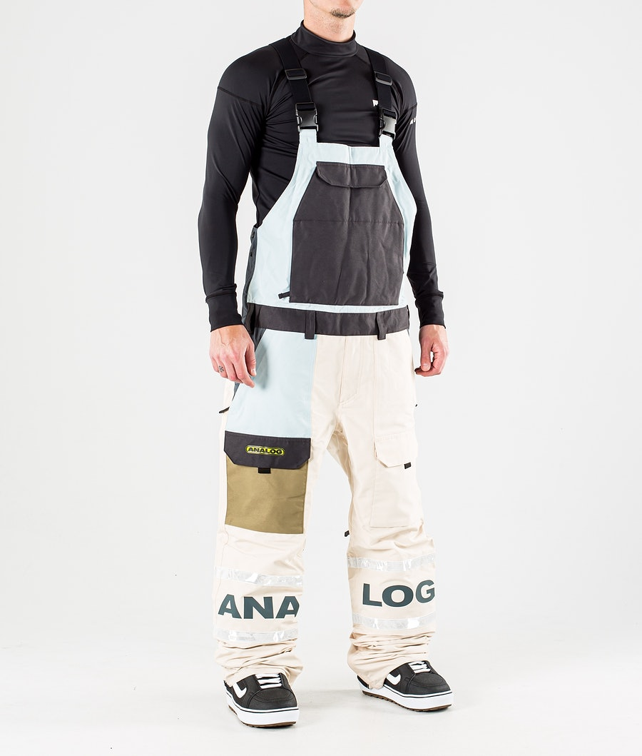 Analog Bib Pant Lumilautailuhousut Ether Blue Multi
