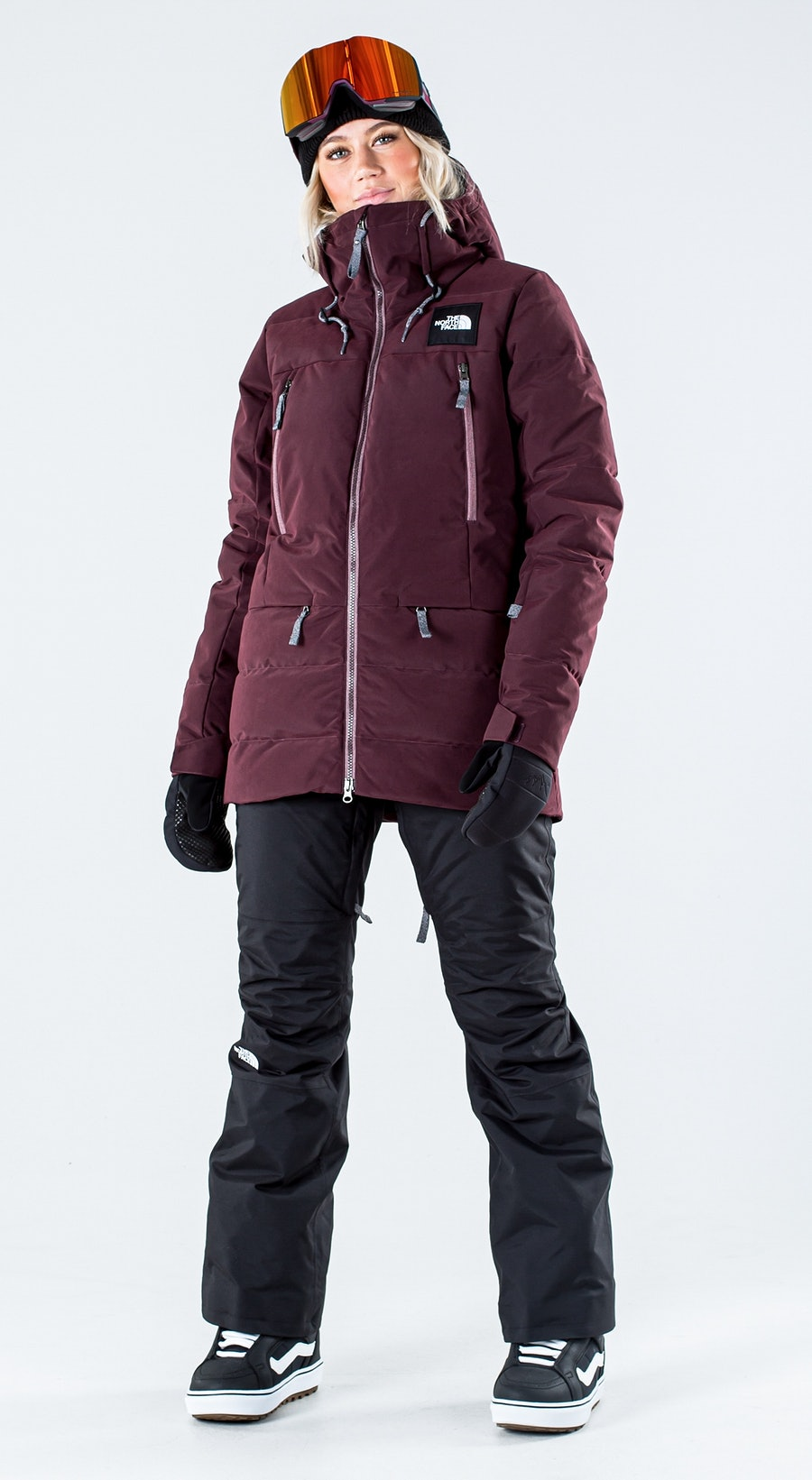 The North Face Pallie Down Root Brown Vêtements de Snowboard  Multi