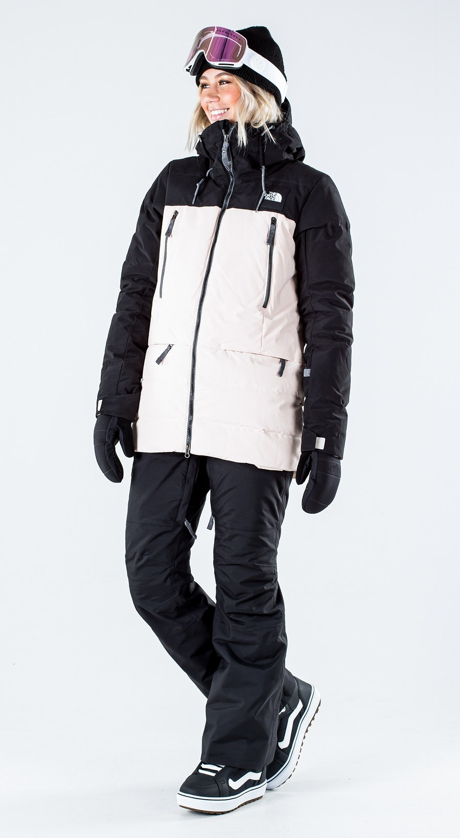 The North Face Pallie Down Tnf Black/Morning Pink Snowboardkläder Multi