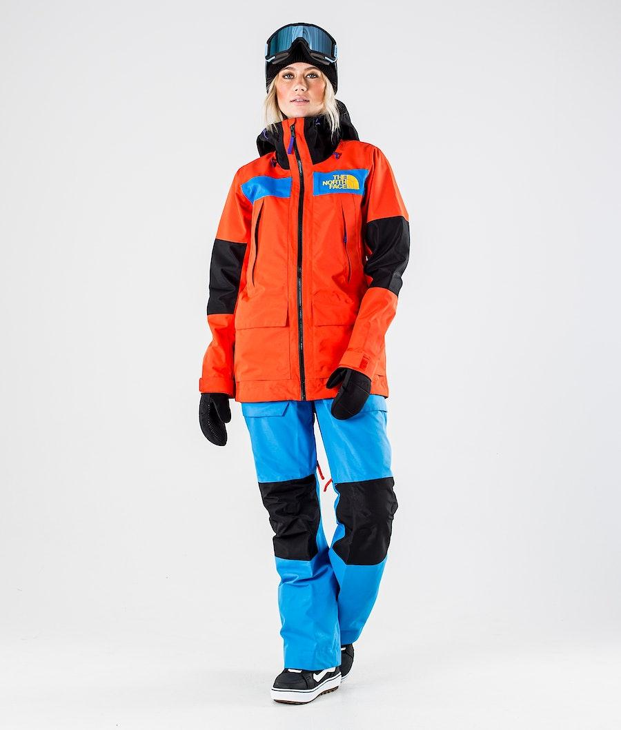 The North Face Team Kit Snowboardjacka Dam Flare/Bomber Blue/Tnf Blk