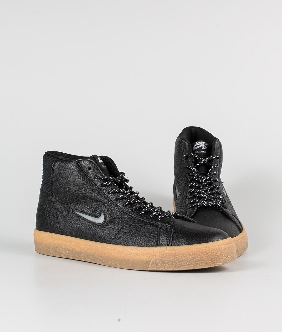 Nike Zoom Blazer Mid Premium Schuhe Black/White-Black-Gum Light Brown
