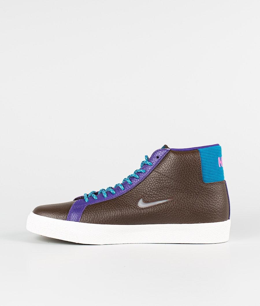 Nike Zoom Blazer Mid Premium Skor Baroque Brown/White-Green Abyss