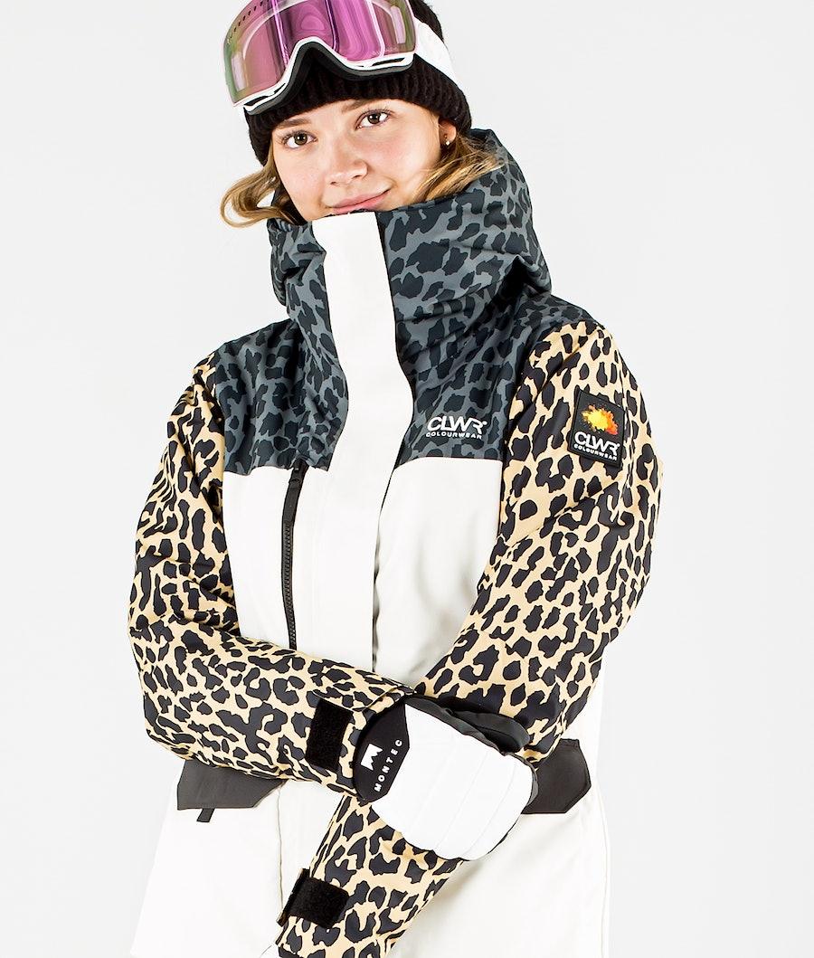ColourWear Square Ski jas Dames Offwhite