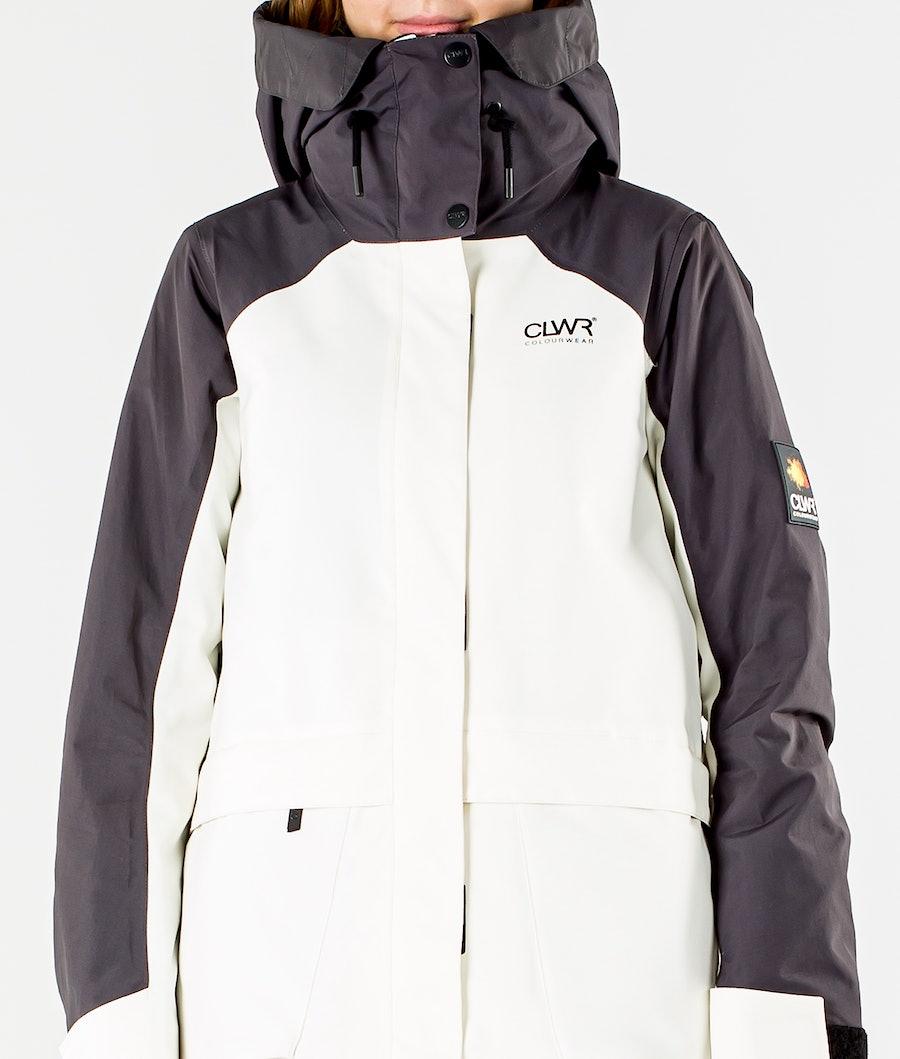 ColourWear Blaze Ski jas Dames Offwhite