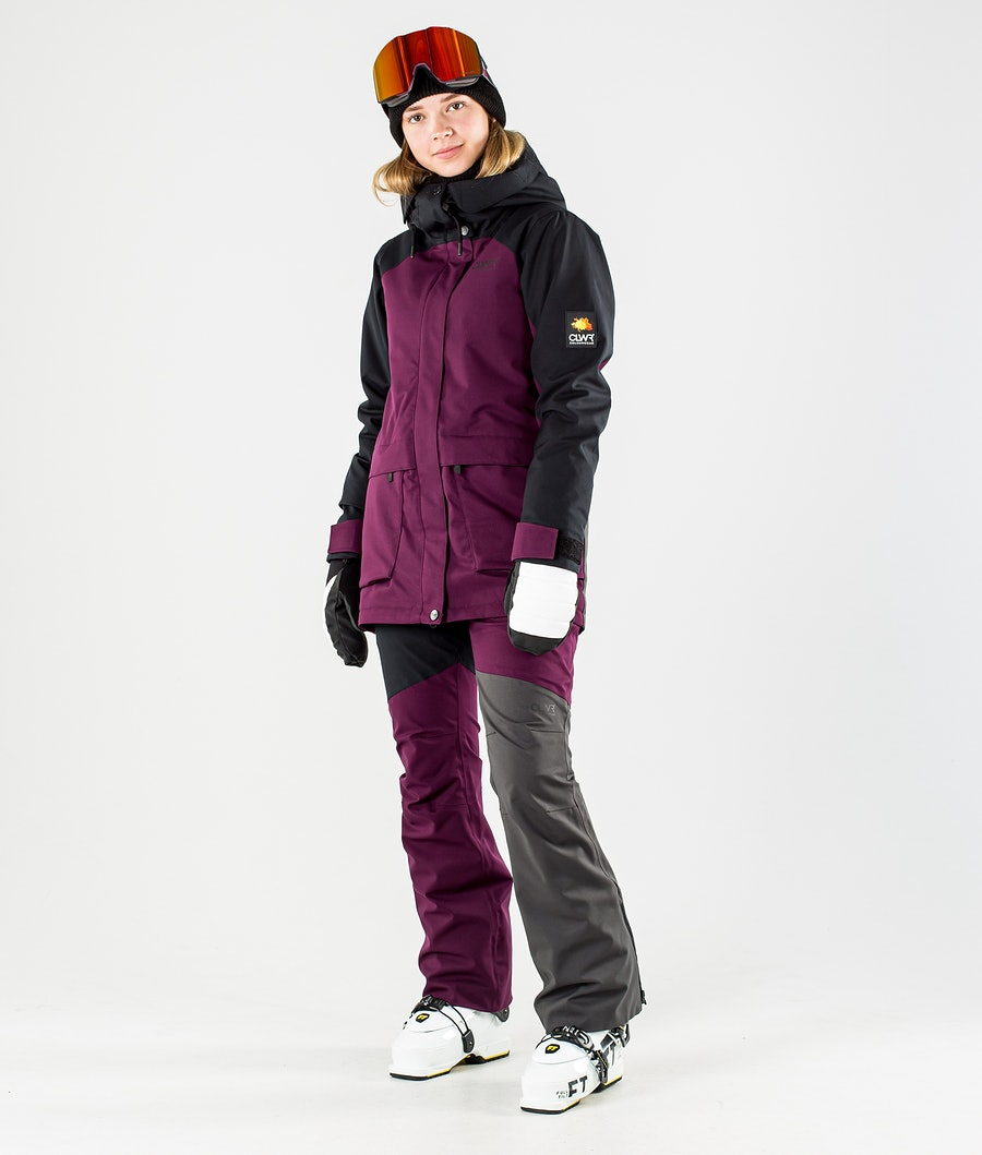 ColourWear Blaze Ski jas Dames Deep Red