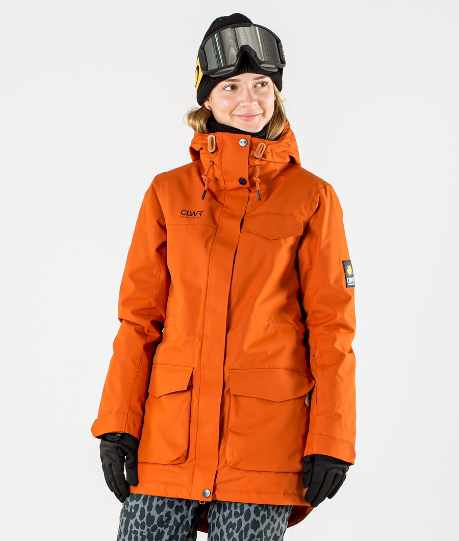ColourWear Track Parka Veste de Ski Dark Orange