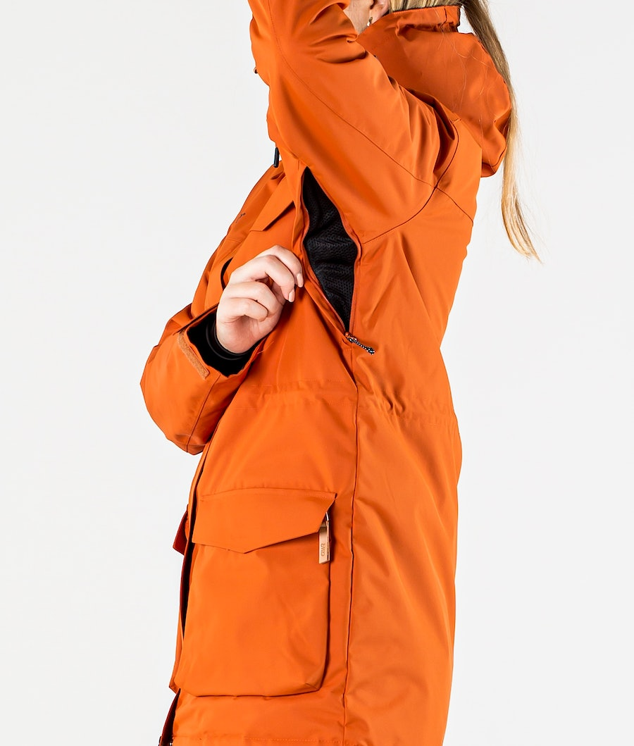 ColourWear Track Parka Ski jas Dames Dark Orange