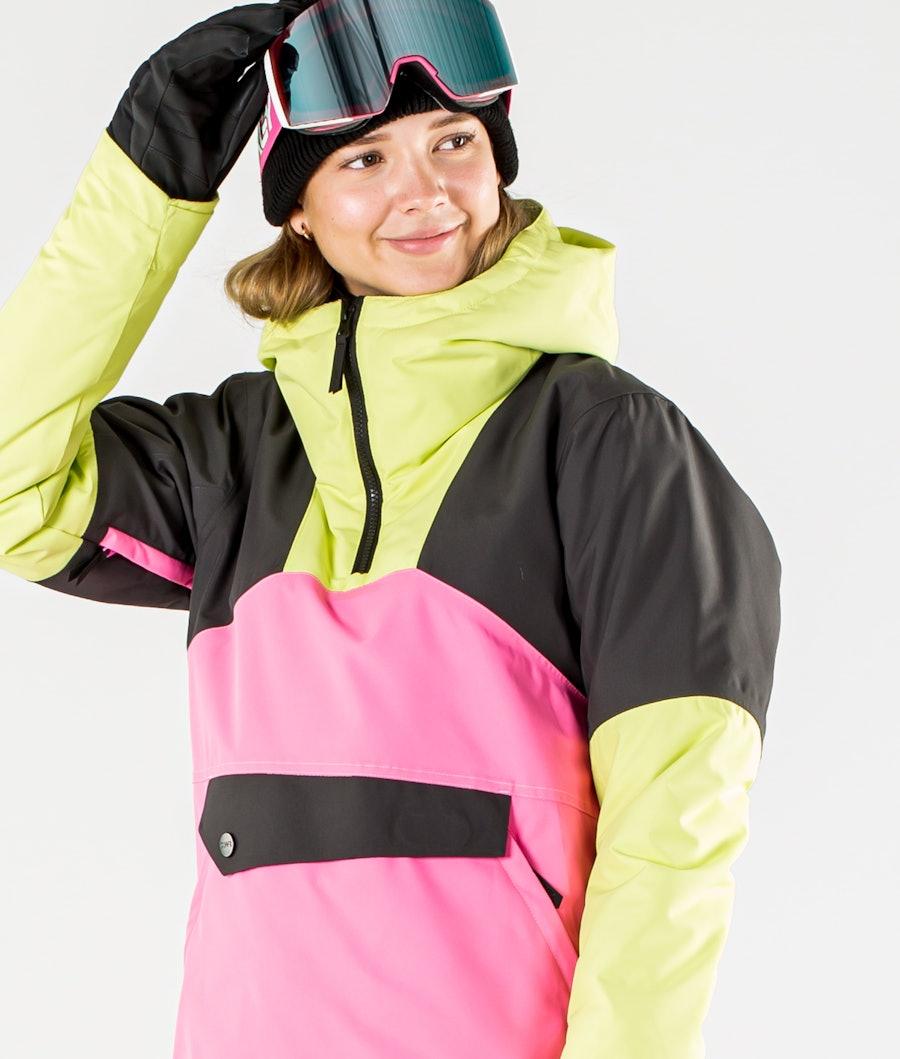 ColourWear Homage Anorak Ski jas Dames Yellow
