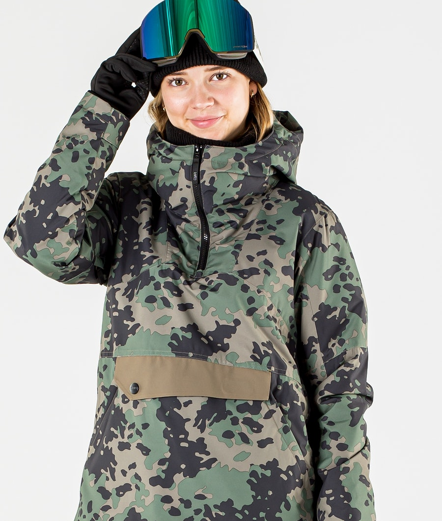 ColourWear Homage Anorak Ski jas Dames Khaki