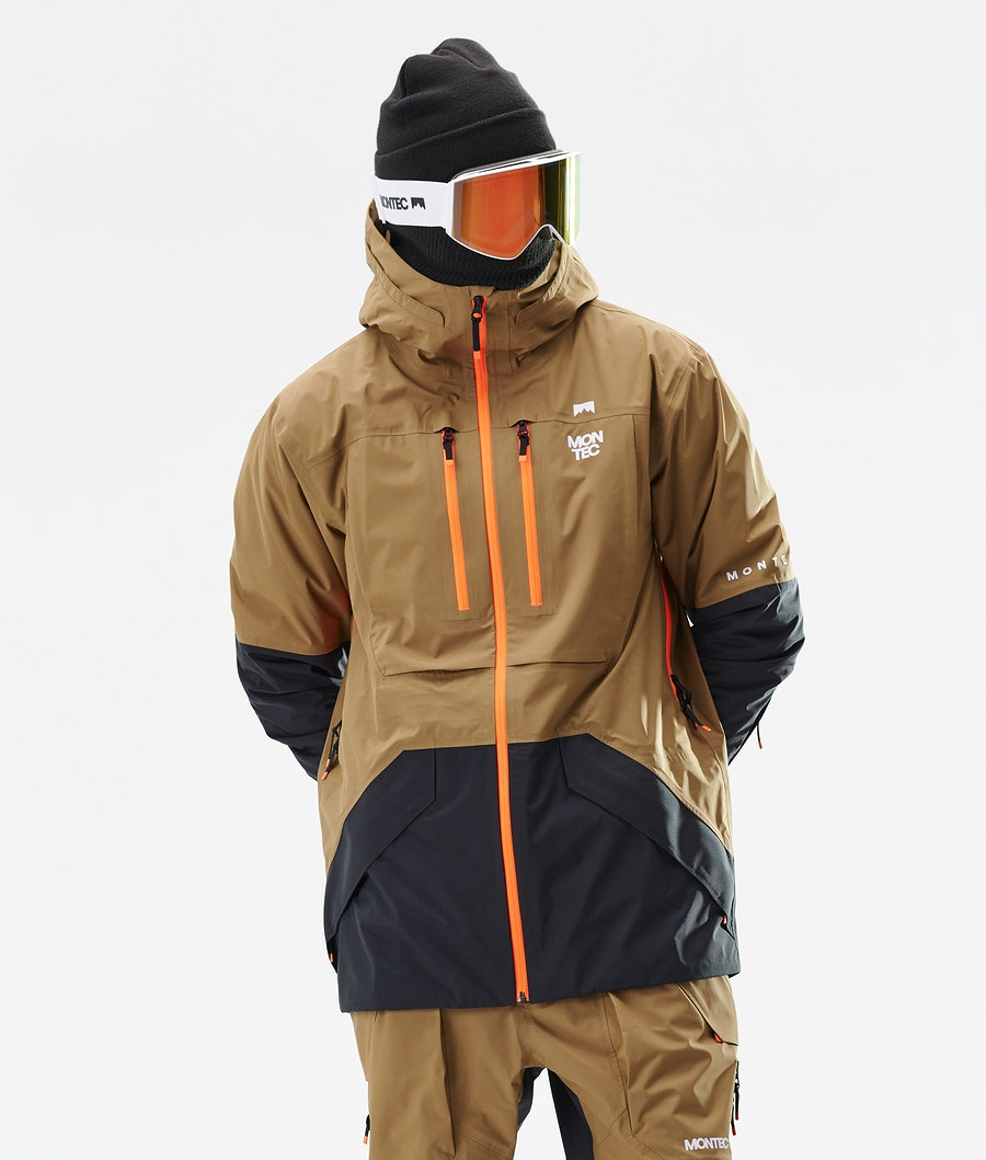 Montec Fenix 3L Ski Jacket Gold/Black