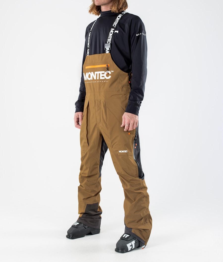 Montec Fenix 3L Pantalon de Ski Gold