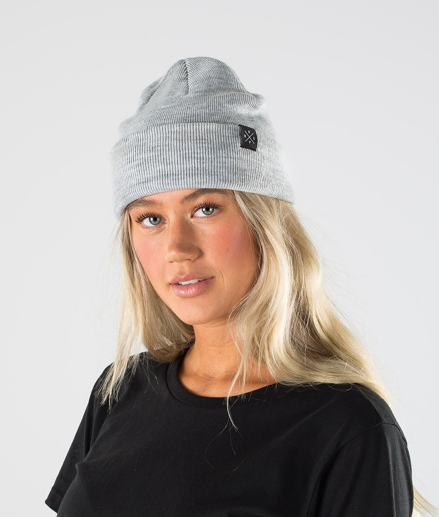 Dope Solitude Beanie Light Grey Melange