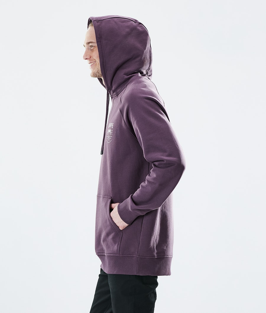 Dope Daily Palm Hoodie Faded Grape