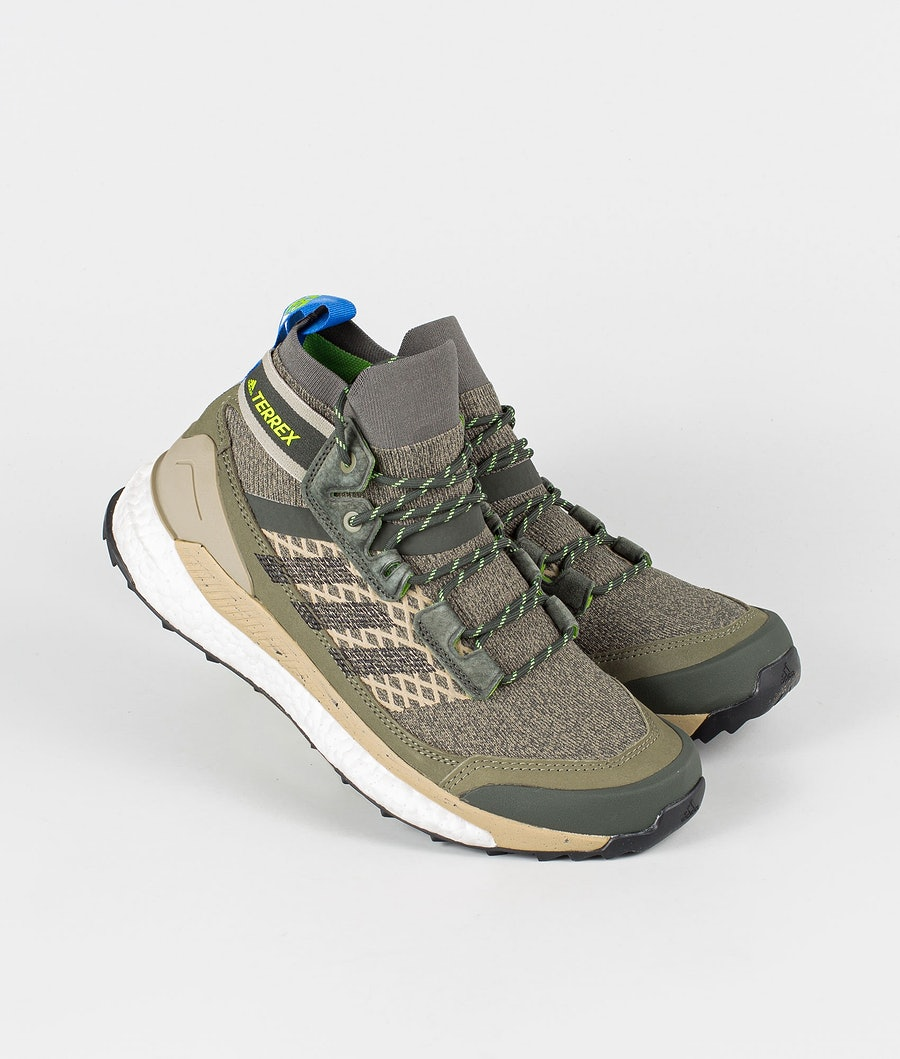 Adidas Terrex Free Hiker Blue Shoes Legacy Green/Core Black/Signal Green