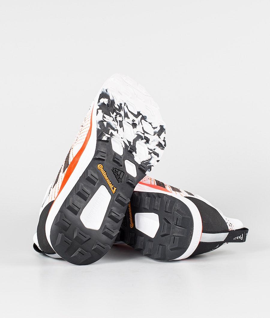 Adidas Terrex Two Parley Skor Dam Crystal White/Core Black/Solar Red