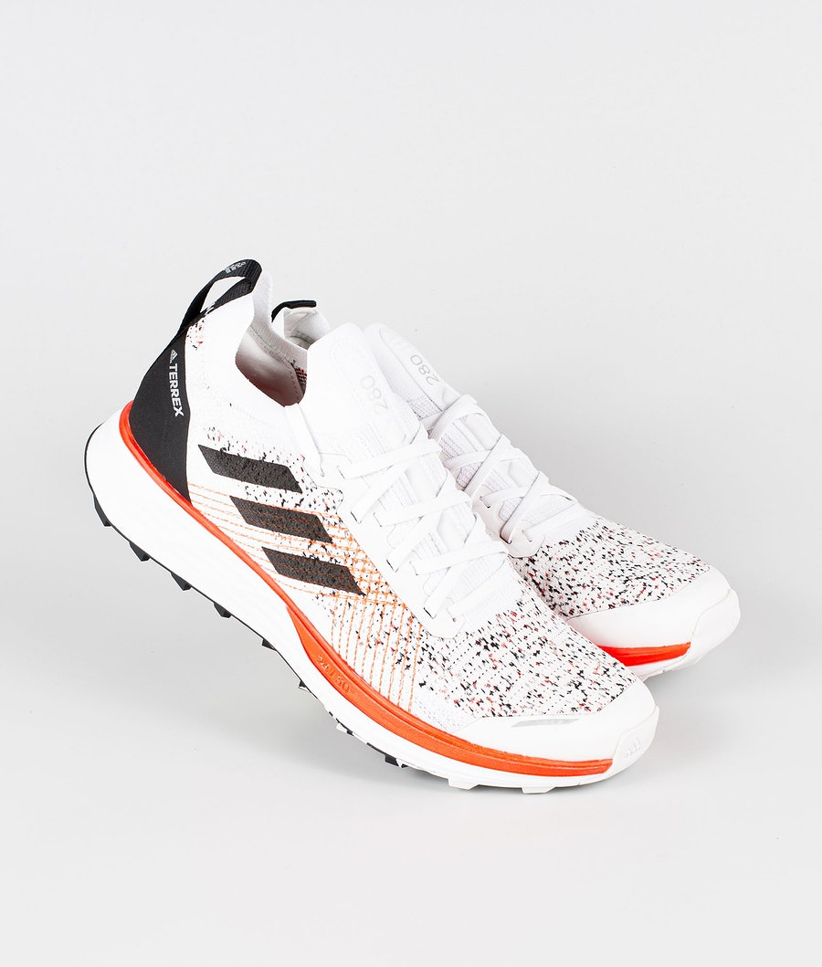 Adidas Terrex Two Parley Shoes Crystal White/Core Black/Solar Red