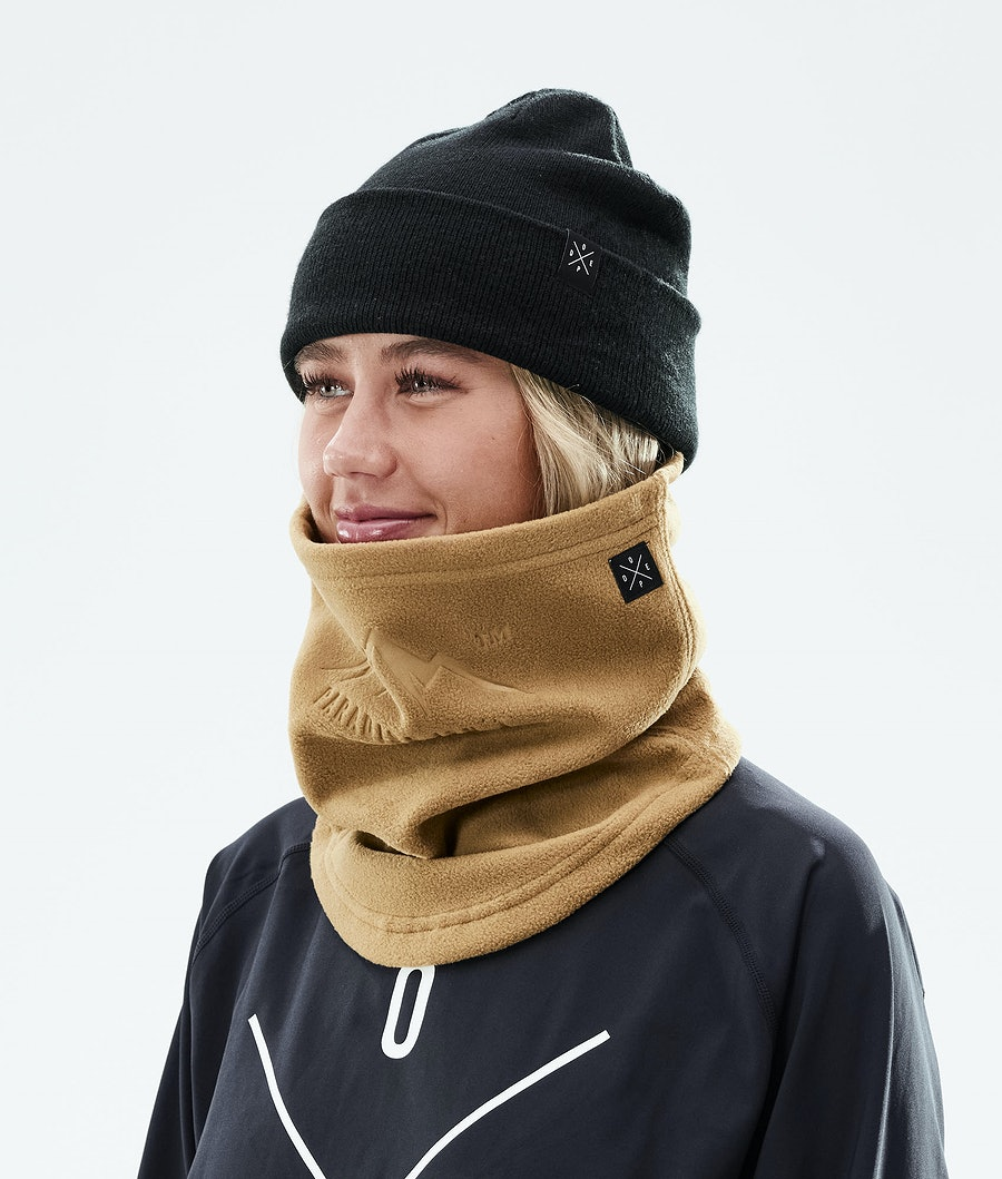 Dope Cozy Tube Facemask Gold