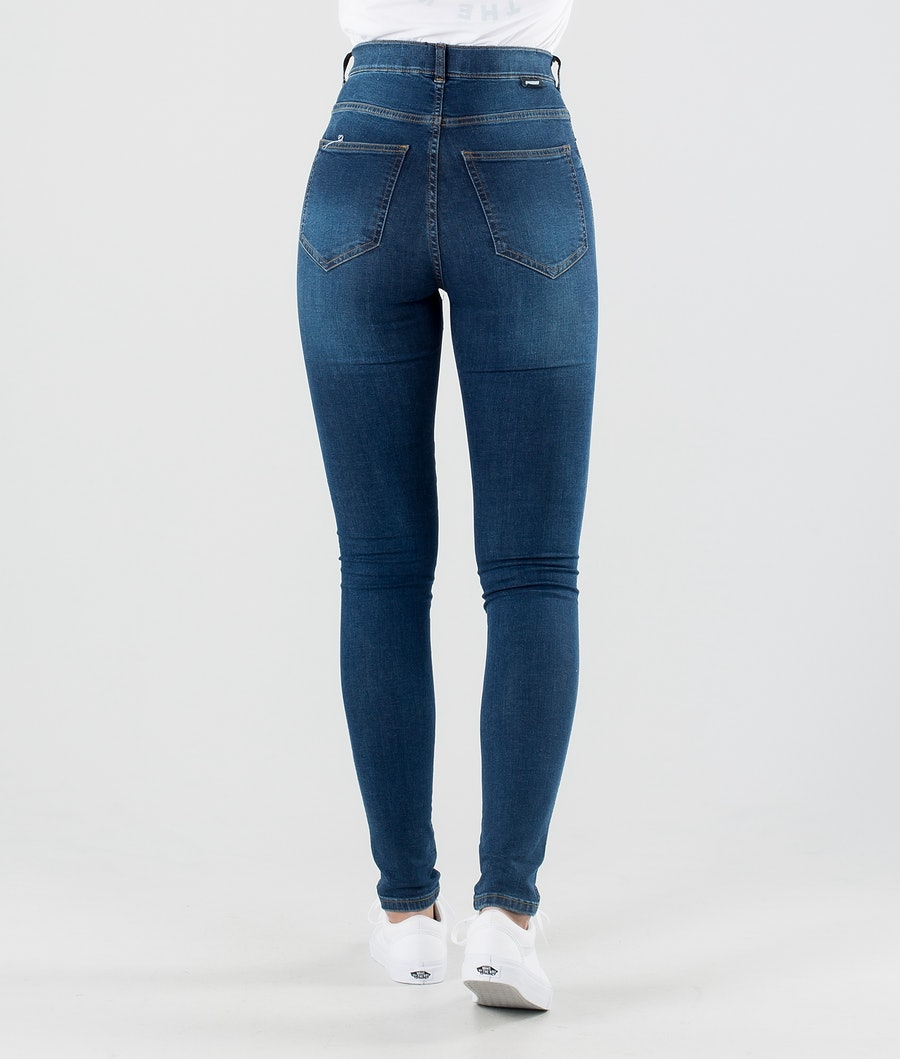 Dr Denim Plenty Hosen Damen Storm Dark Blue