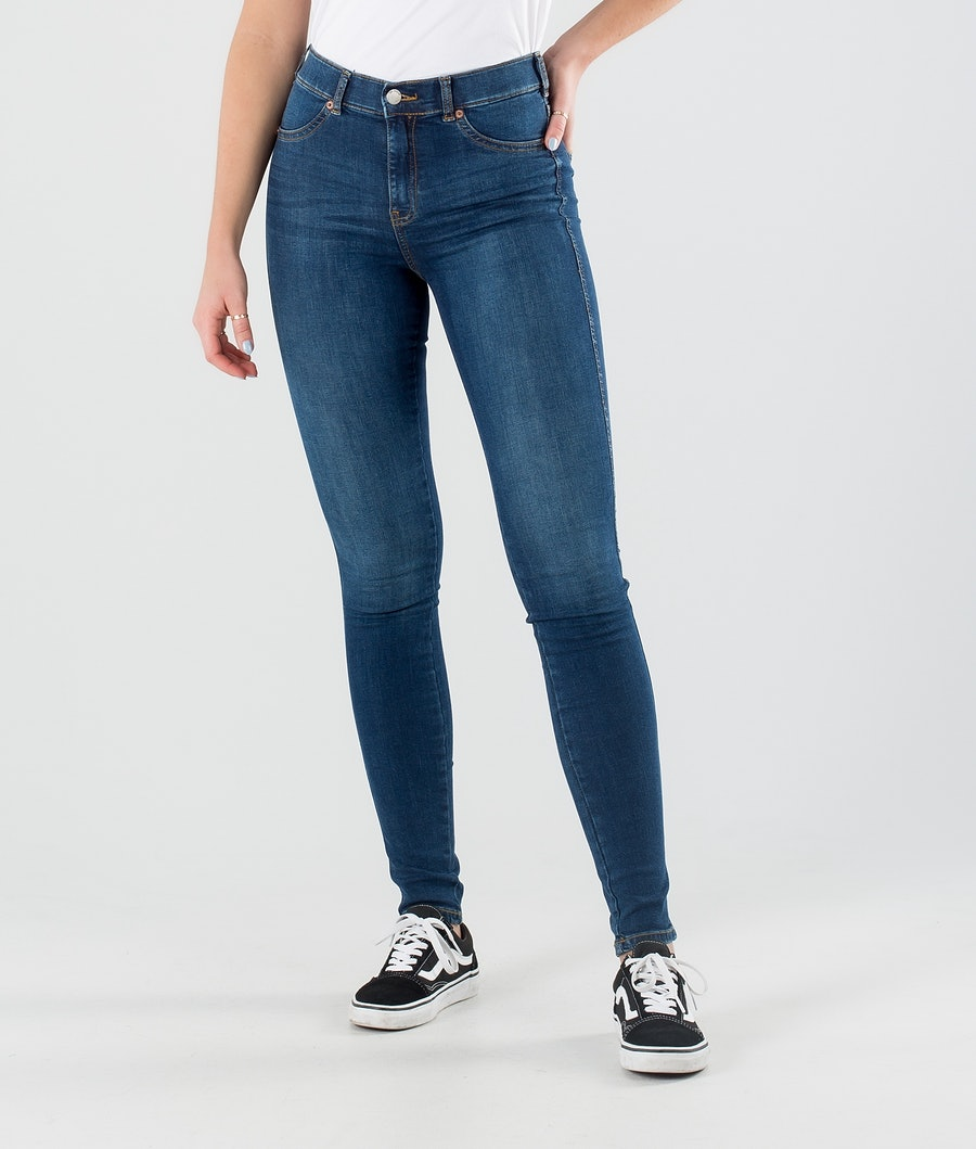 Dr Denim Solitaire Pantalon Storm Dark Blue