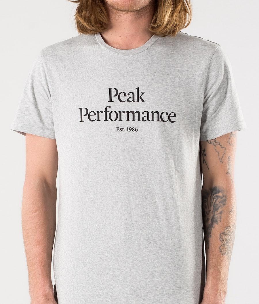Peak Performance Original T-shirt Med Grey Melange