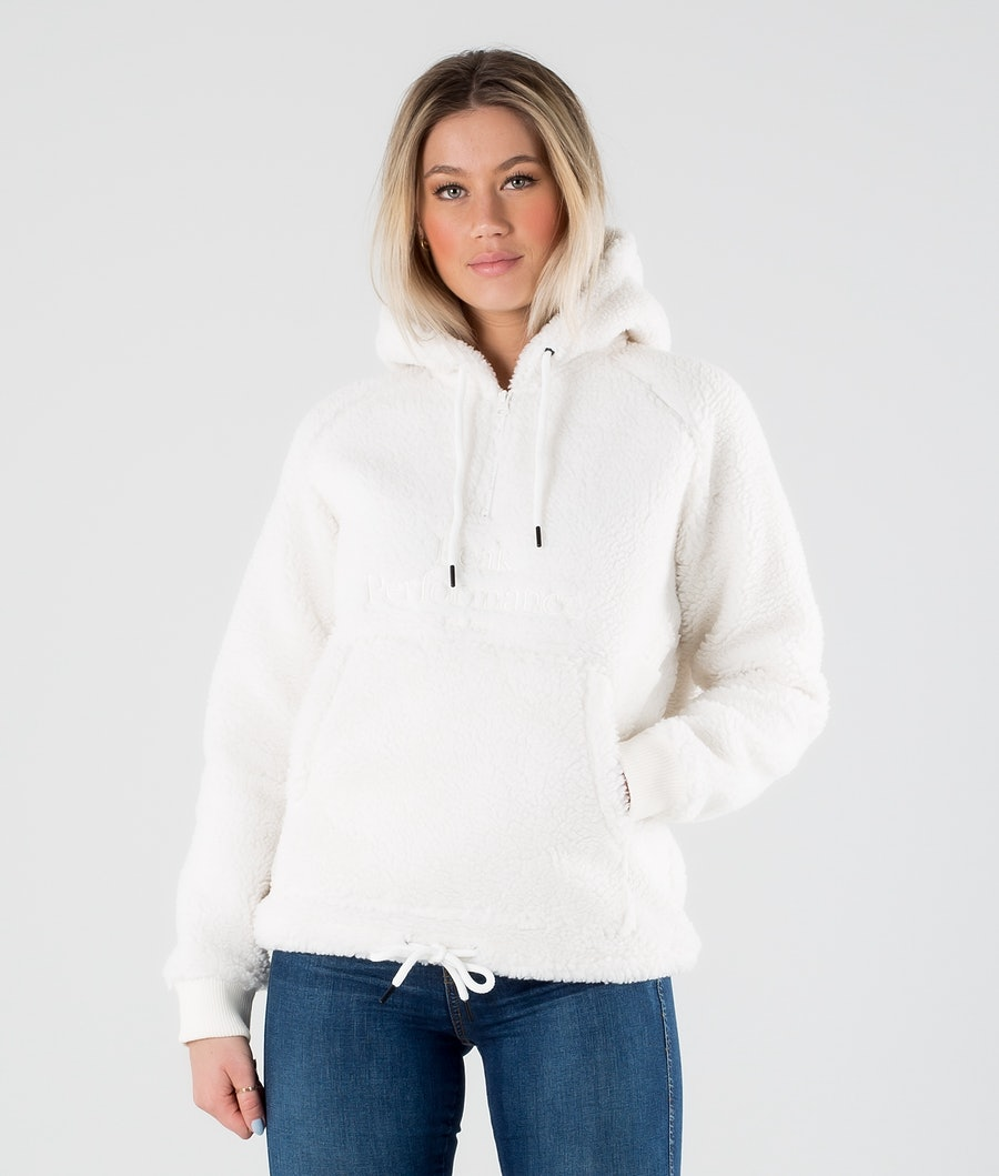 Peak Performance Original Pile Half Zip Hood Offwhite