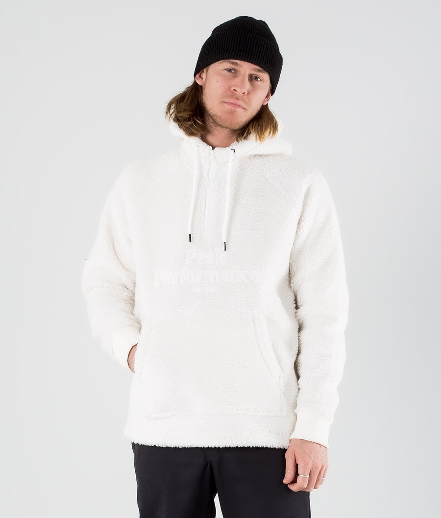 Peak Performance Original Pile Half Zip Hoodie Offwhite