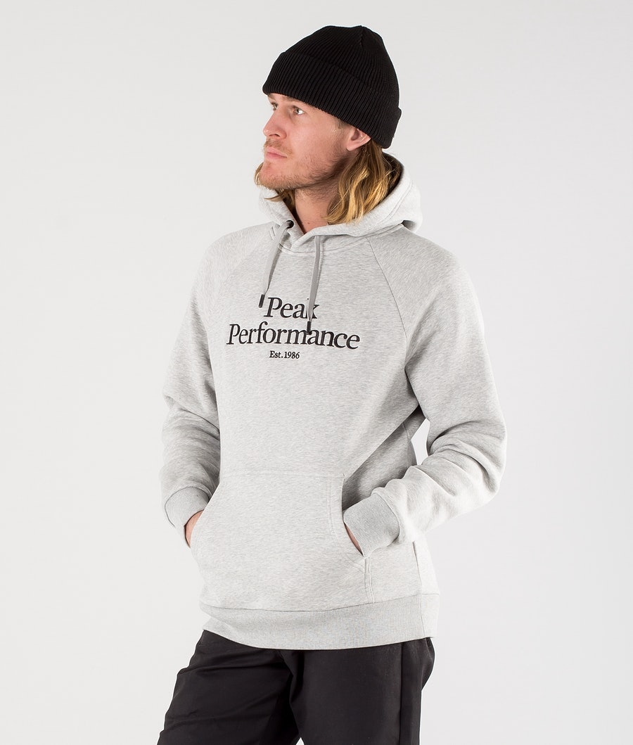 Peak Performance Original Hoodie Med Grey Melange