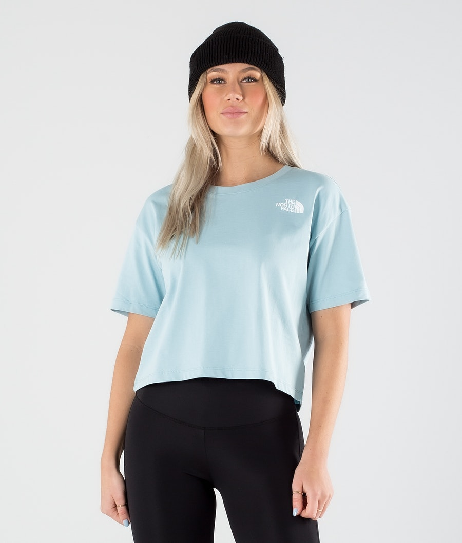 The North Face Cropped Simple Dome T-shirt Tourmaline Blue