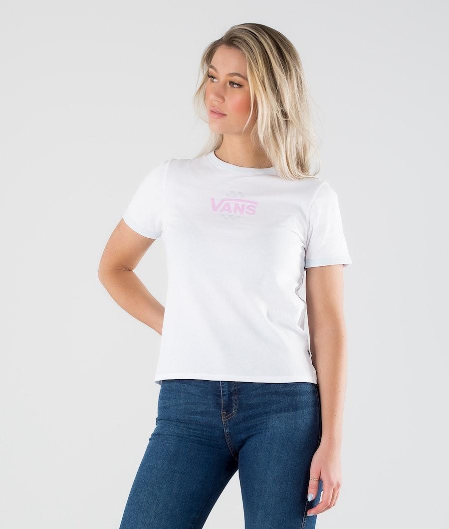 Vans Summer Schooler Ringer T-shirt White/Ballad Blue