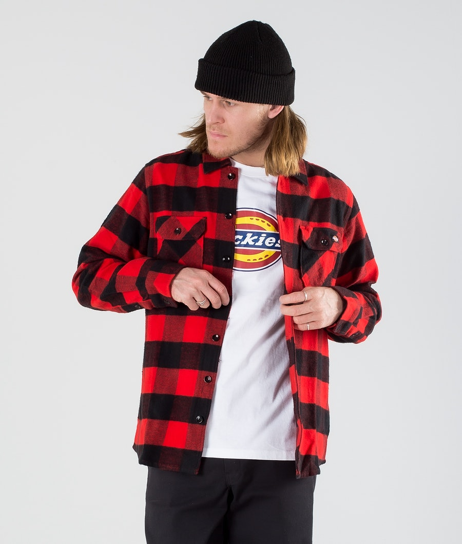Dickies New Sacramento Hemd Red