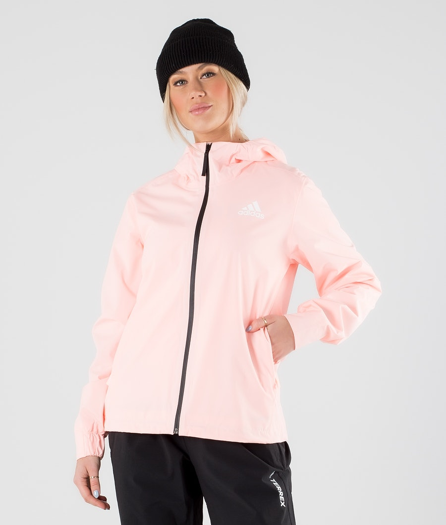 Adidas Terrex BSC 3 Stripes Rain Ready Jacket Haze Coral