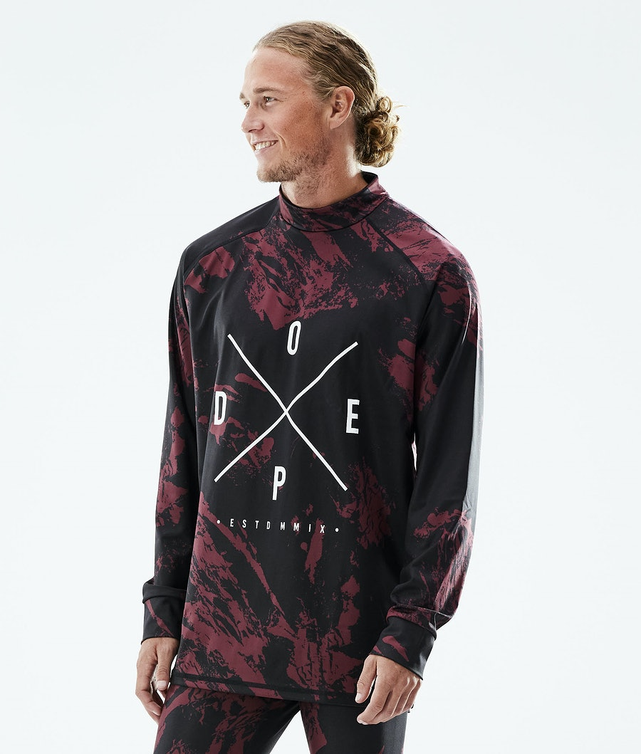 Dope Snuggle 2X-UP Base Layer Top Paint Burgundy