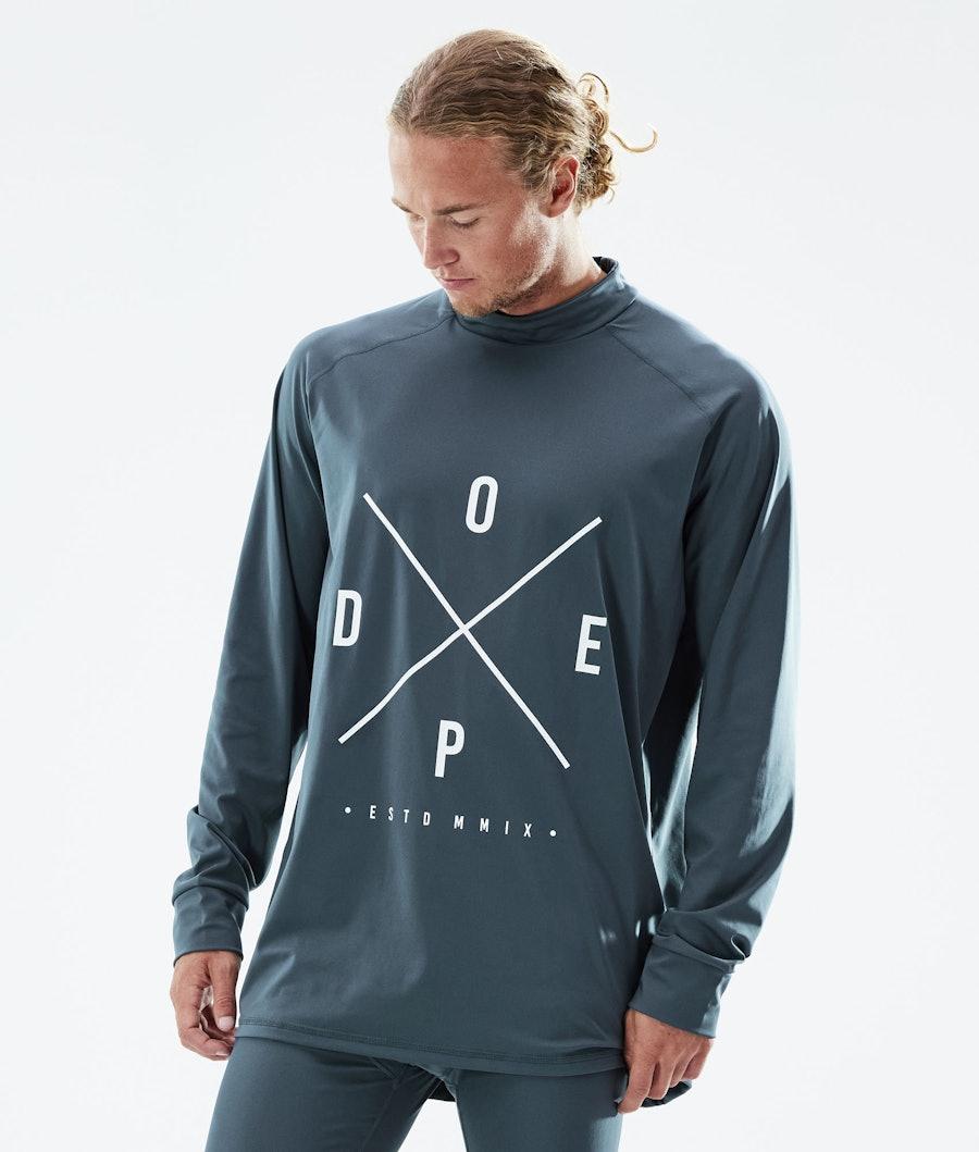 Dope Snuggle 2X-UP Superundertøy overdel Metal Blue