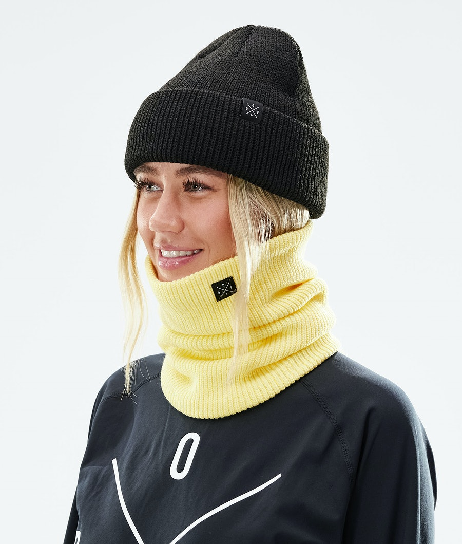 Dope 2X-UP Knitted Ansiktsmask Faded Yellow